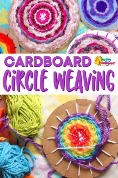 Easy Cardboard Circle Weaving on a Homemade Loom