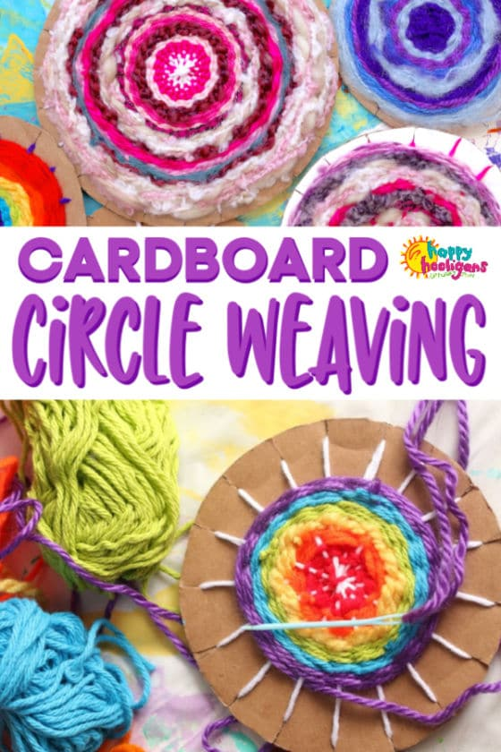 Easy Cardboard Circle Weaving on a Homemade Loom