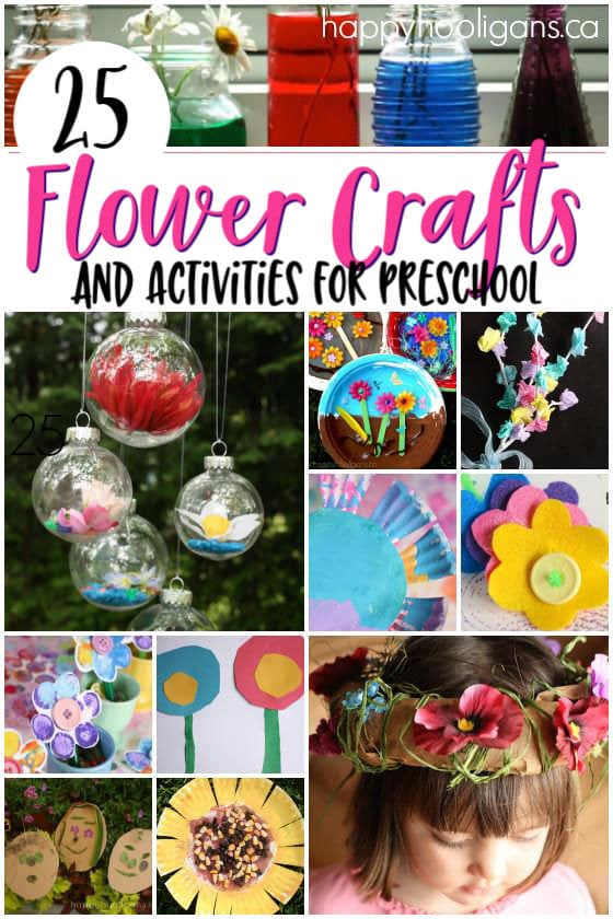 Flower crafts and activities for toddlers and preschoolers