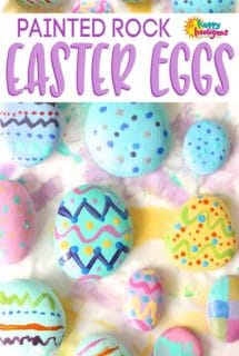Painted Rock Easter Egg Craft for Kids