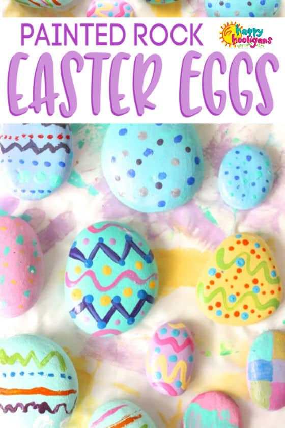 Painted Rock Easter Eggs Craft Happy Hooligans