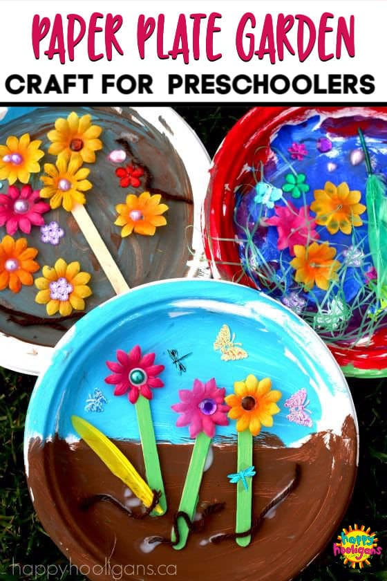 Paper Plate Garden A Fun Letter G Craft Happy Hooligans