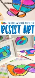 Stained Glass Doodles Resist Art for Kids