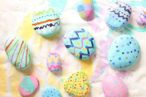 Painted Stone Easter Egg Craft