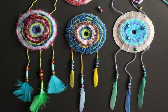 3 woven CD Dream Catchers