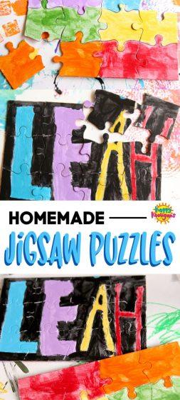 Homemade Interlocking Jigsaw Puzzle Activity
