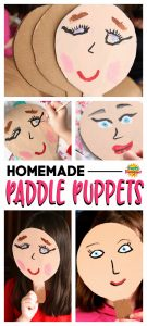 Homemade Paddle Puppets Craft