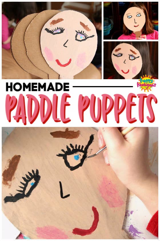 Homemade Paddle Puppets Craft for Kids