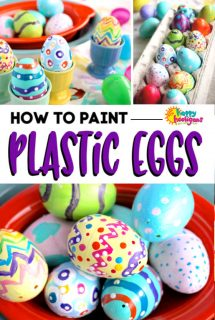 How to Paint Plastic Easter Eggs