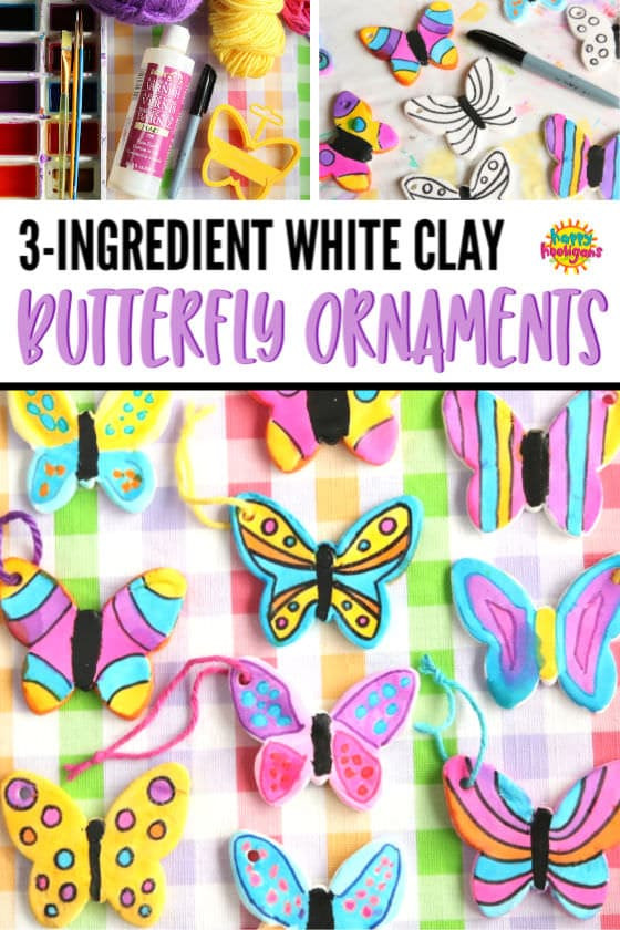 3-Ingredient Clay Dough Butterfly Craft