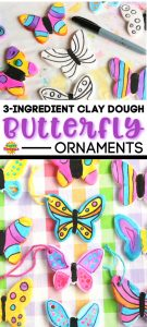 clay dough butterfly ornaments long pin