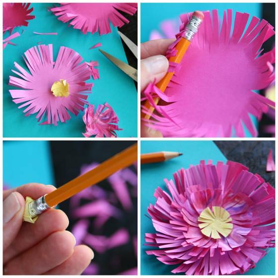 How to Make Paper Mum Flowers step photos
