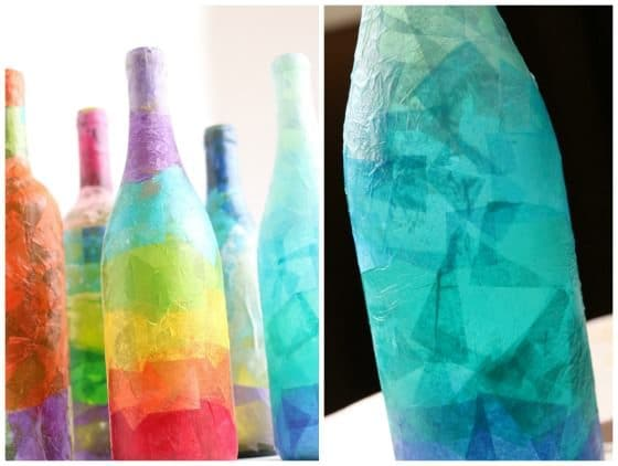 Wine Bottle Candle Holder for Kids to Make and Give , Happy