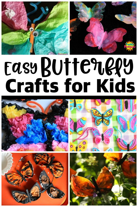 Easy Butterfly Crafts and Butterfly Art for Kids of All Ages