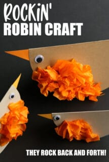 paper robin craft for toddlers and preschoolers