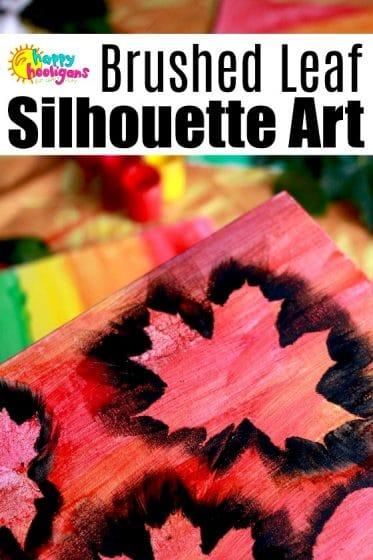 Brushed Leaf Silhouette Art