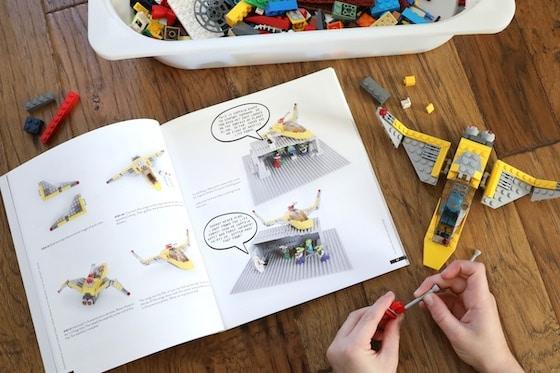 LEGO Creations Book, Bin of LEGO, Spaceship