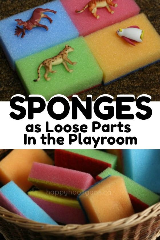 Sponges for Loose Parts Play