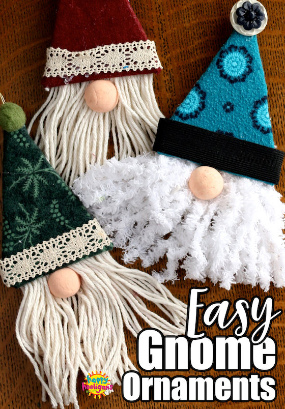 Easy Gnome Ornaments for Kids to Make for the Christmas Tree