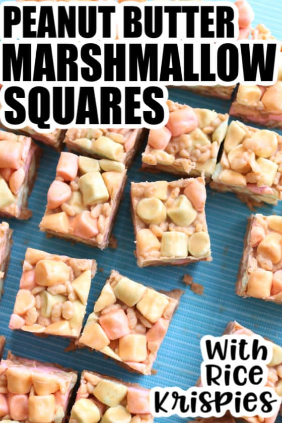 Peanut Butter Marshmallow Squares - feature image