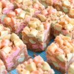 horizontal peanut butter marshmallow squares
