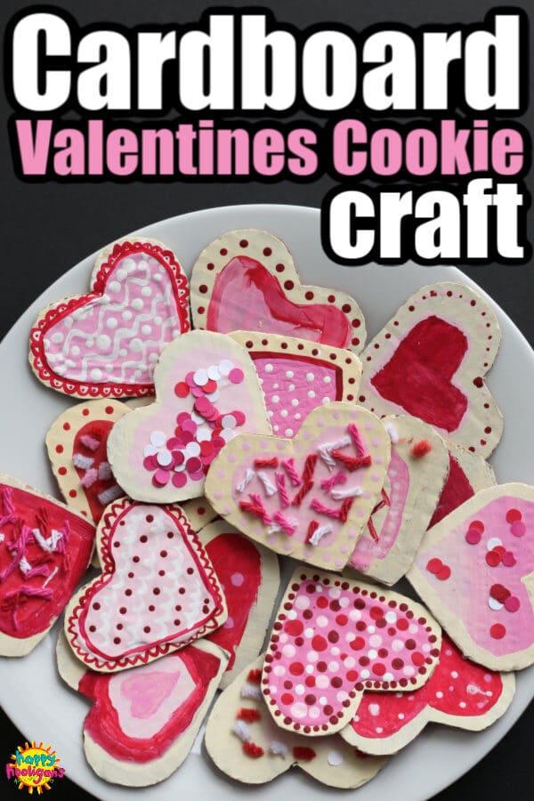 Cardboard Valentines Cookie Craft for Kids