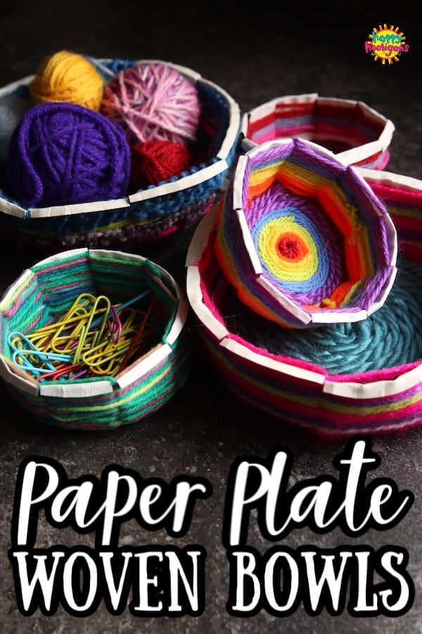 Woven Bowls made from Paper Plates