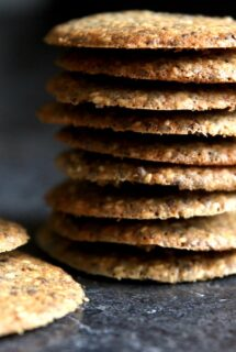 Sesame Flax Seed Cookies - feature image