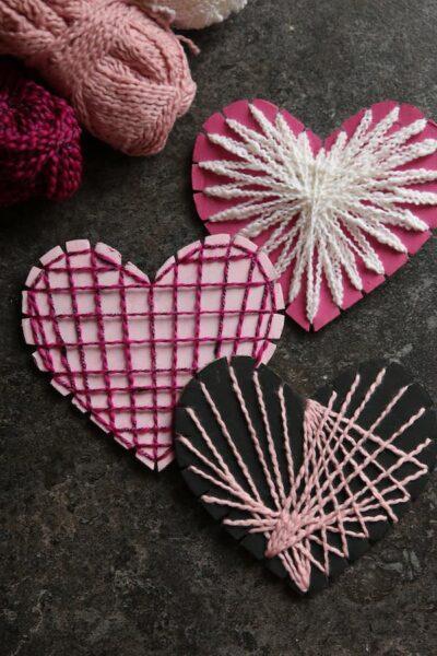 cardboard heart string art feature image