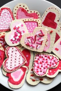 Cardboard Valentines Cookie Craft