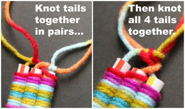 knot tails together collage