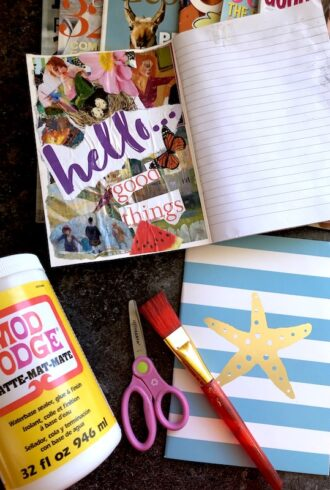 how to modpodge a journal cover feature image