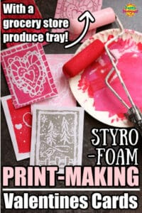 styrofoam printmaking for kids homemade cards