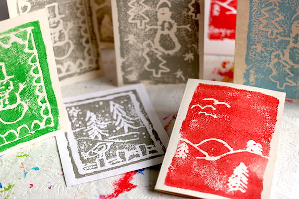 various christmas card prints by kids