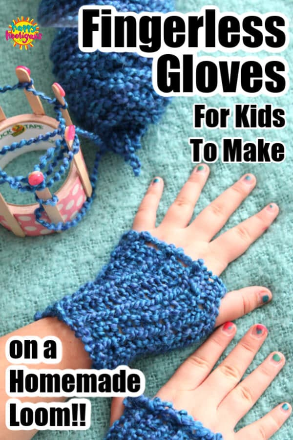 Homemade Fingerless Gloves - pin image