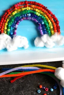 rainbow pipe cleaner bead craft