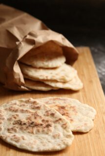 2 ingredient flat bread pin image
