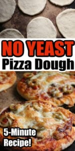 No Yeast Pizza Dough 5 minute