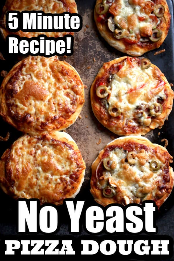 No-Yeast Pizza Dough Recipe