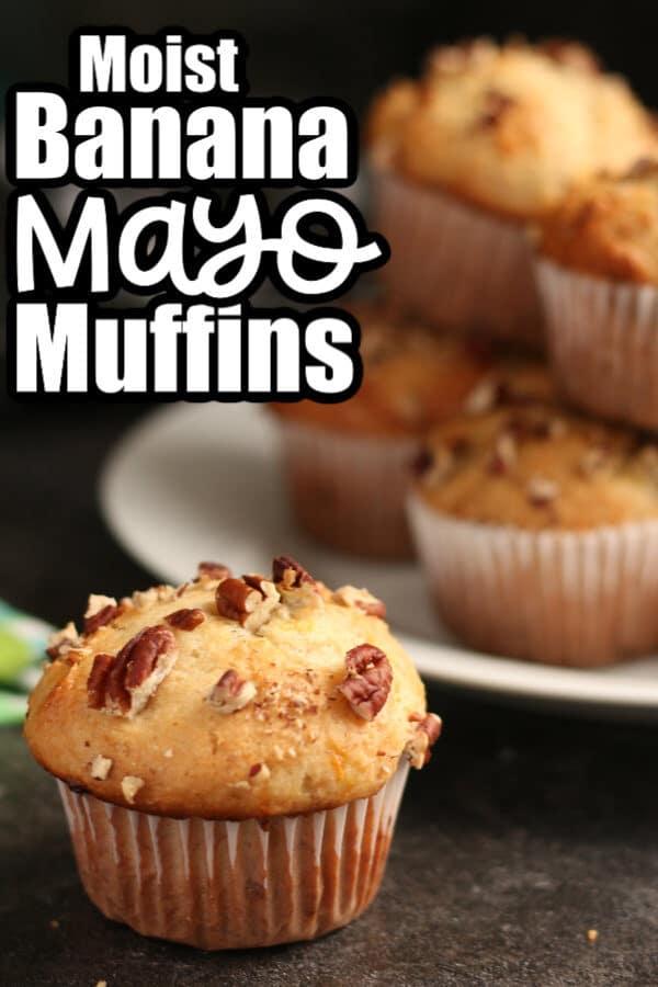 Banana Mayonnaise Muffins