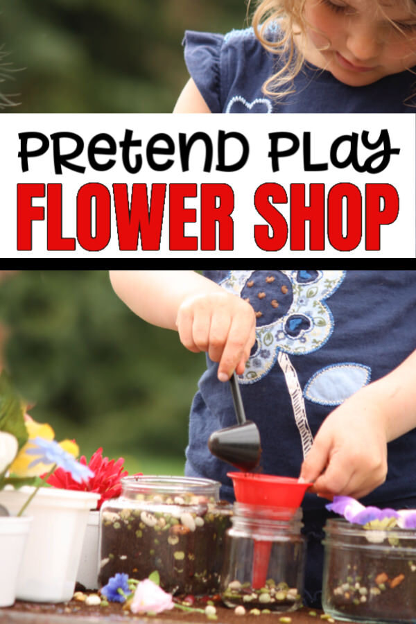 dramatic play flower shop for toddlers and preschoolers