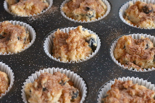 muffins topped with sugar-cinnamon