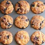 blueberry oatmeal muffins square