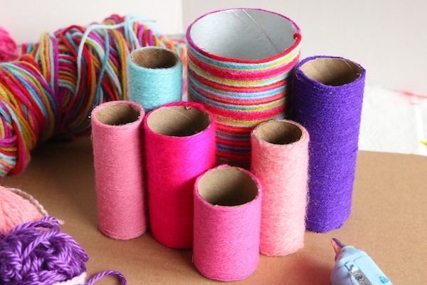 toilet rolls grouped together as organizer