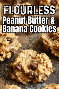 Peanut Butter Banana Oatmeal Chocolate Chip Cookies
