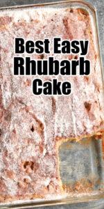 Rhubarb Cake Recipe sugar topping