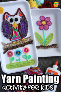 Yarn Painting Activity for Kids