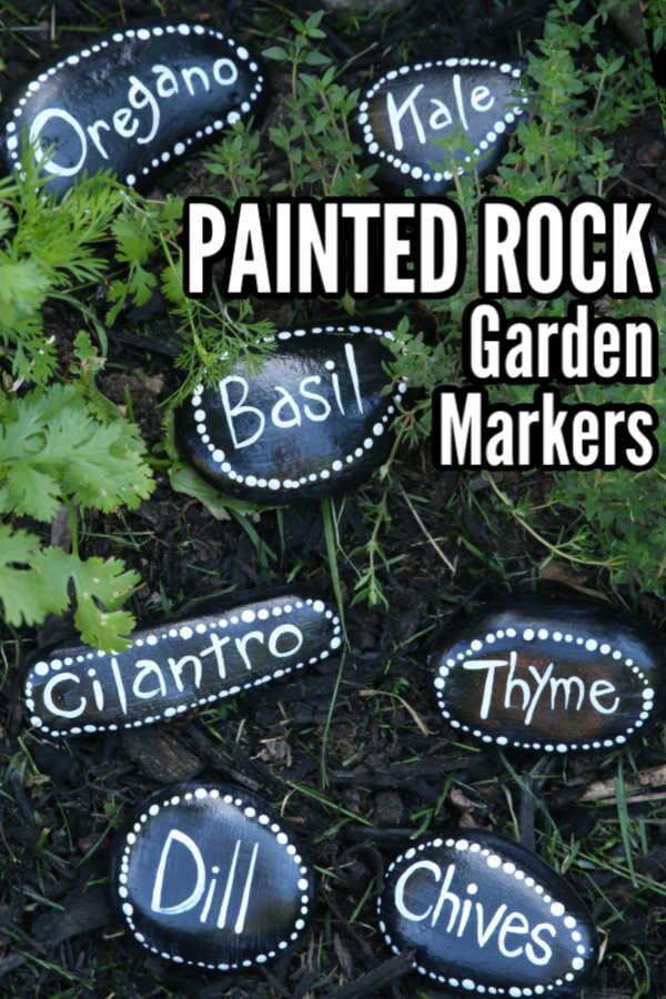 painted rock garden markers craft