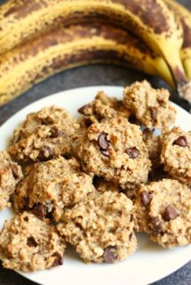 peanut butter and banana cookies no flour cover image