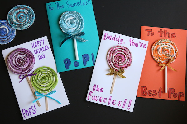 horizontal - 4 lollipop cards